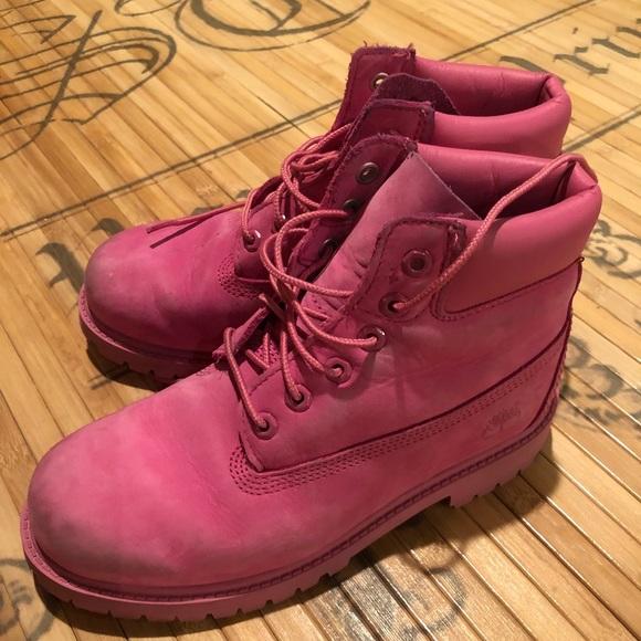9aa2134ed8b Pink Girls Timberland Boots Size 3